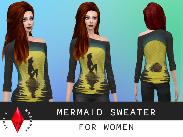Female Mermaid Sweater by SIms4Krampus