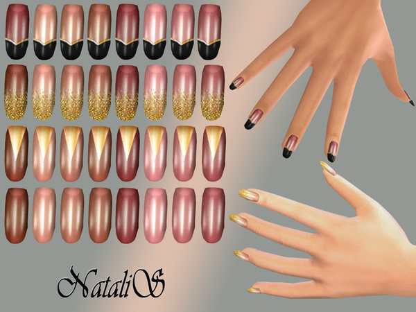 NataliS_Gold design nails collections FT-FE