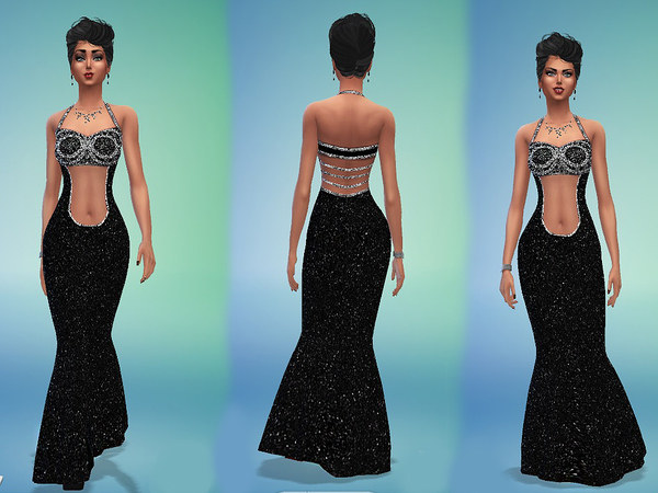 Bling Black Gown by monopolistic