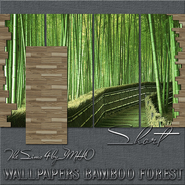 Wallpapers Bamboo Forest The Sims 4 by IMHO