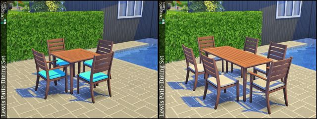 Lewis Patio Dining Set by Sailfindragon