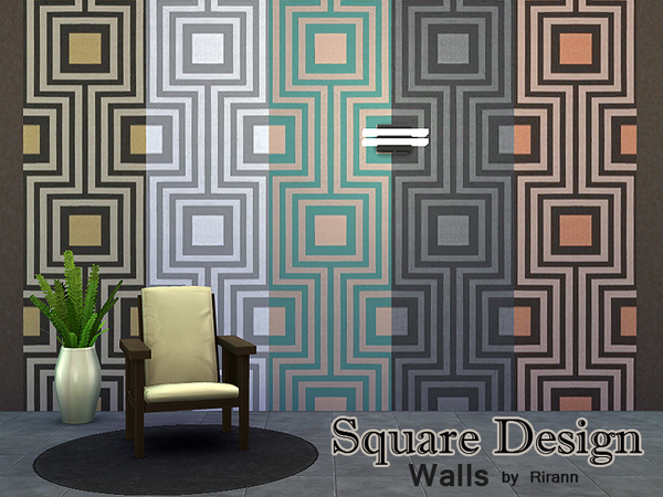 Square Design Wall by Rirann