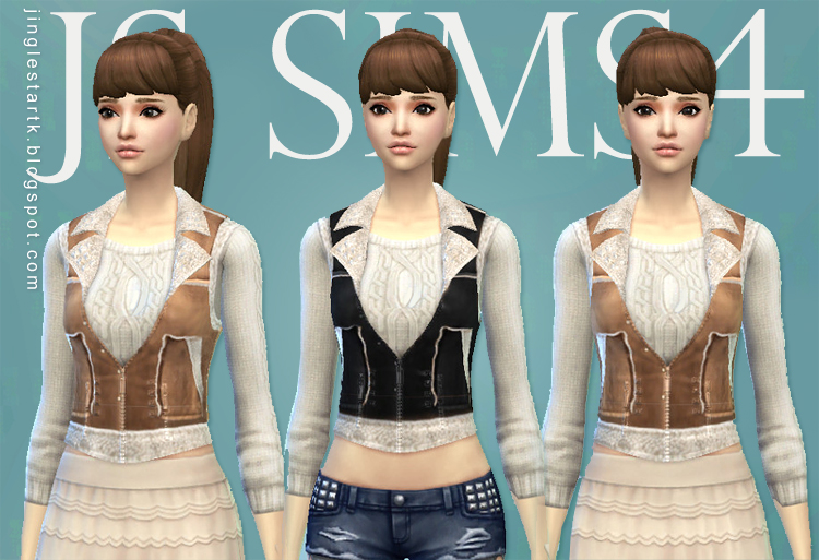 Sheep Skin Vest by JS SIMS