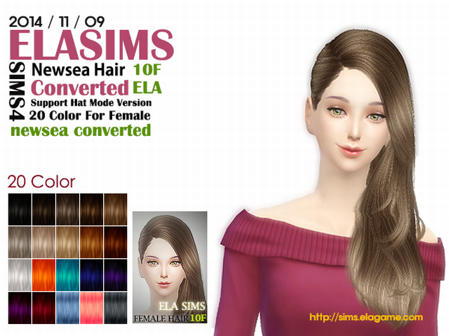 Newsea Hair Conversion 10F by Elasims