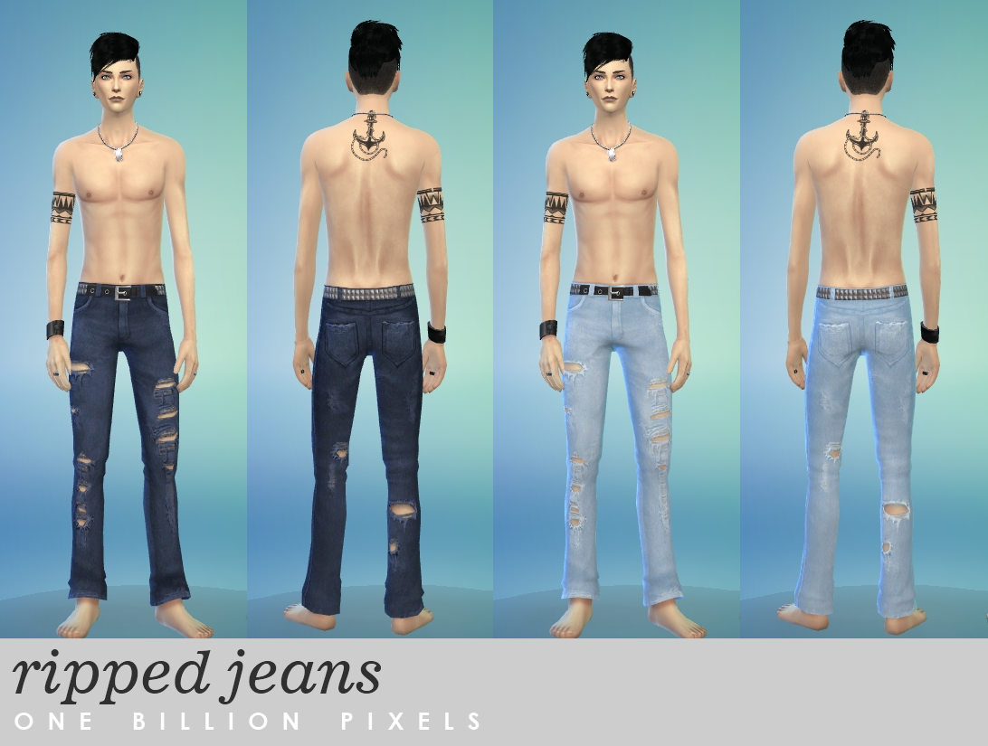 Ripped Jeans for Teen - Elder Males by NewOne