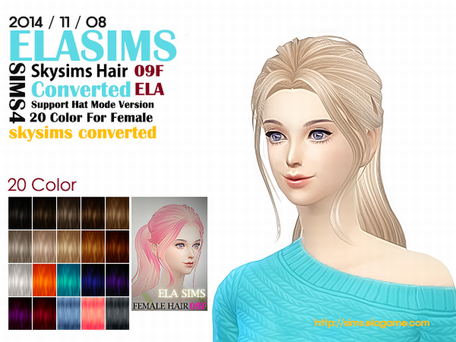 Skysims Hair Conversion 09F by Elasims
