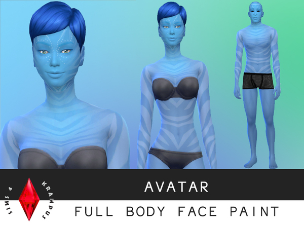 Avatar Full Body Paint by SIms4Krampus