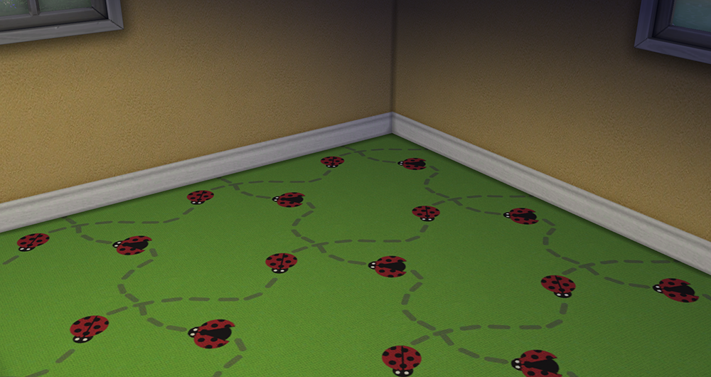 Ladybug Carpet Floor by Deresims