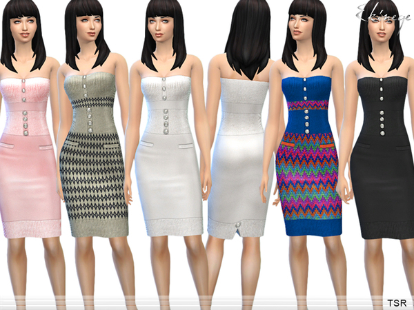 Knit Strapless Dress by ekinege