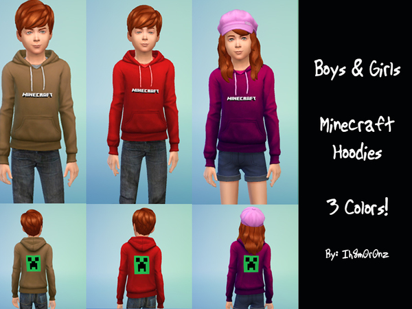 Boys & Girls Minecraft Hoodies by ih8m0r0nz