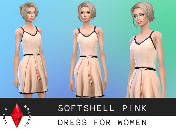 Softshell Pink Dress by SIms4Krampus
