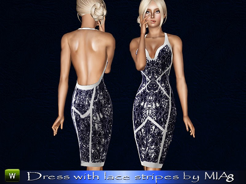 Women's dress with lace inserts by Mia8