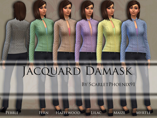 Jacquard Damask Jacket by scarletphoenix91