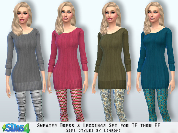 Sweater and Leggings Set for TF to EF by simromi