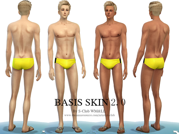 S-Club WMLL thesims4 BASSIS skintones2.0