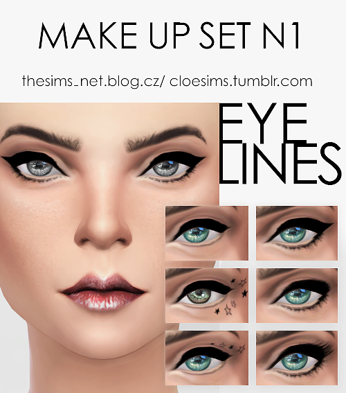 Make up set N1,eye lines by Cloesims