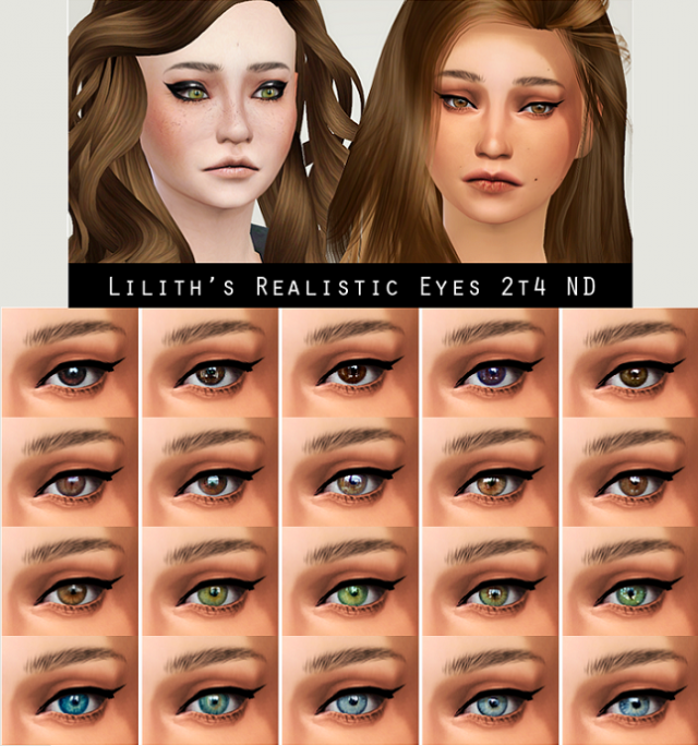 Liliths Realistic Eyes Converted to TS4 by LIAHXSIMBLR