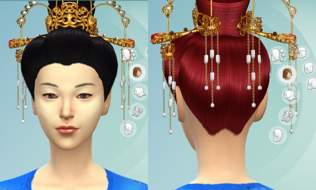 Tang Hair for Females by QingshuangTongzi