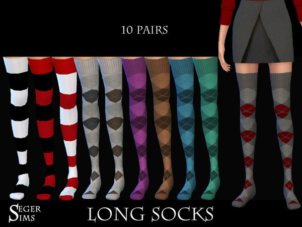 10 Pairs Long Socks by SegerSims