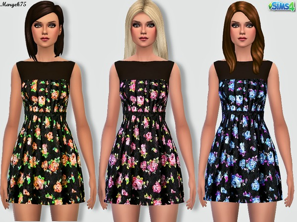 Sims4 Floral Love Dress by Margeh-75