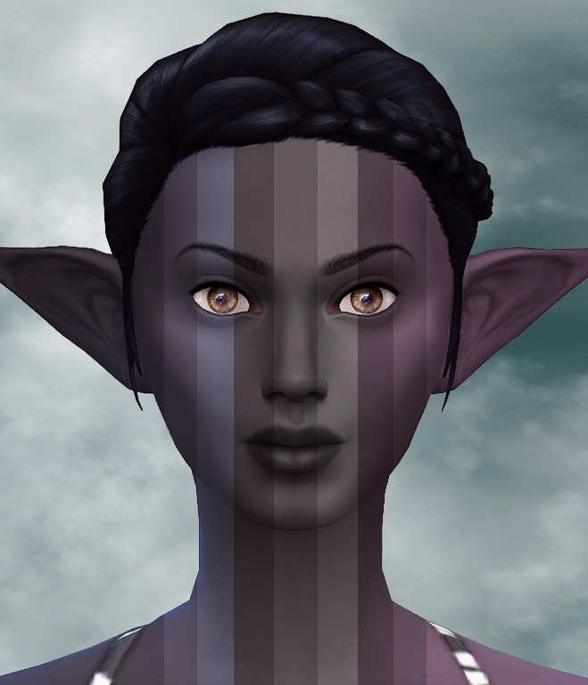 9 Dark Elf Skintones by Notegain