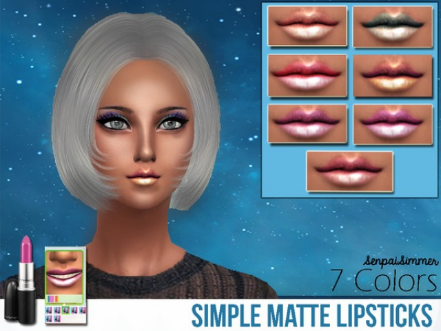 Simple Matte Lipsticks by SenpaiSimmer