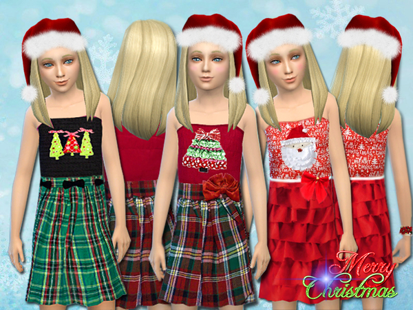 Merry Christmas dress set by Pinkzombiecupcakes