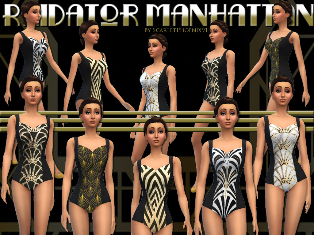 Radiator Manhattan Swimwear for Teen - Elder Females by scarletphoenix91