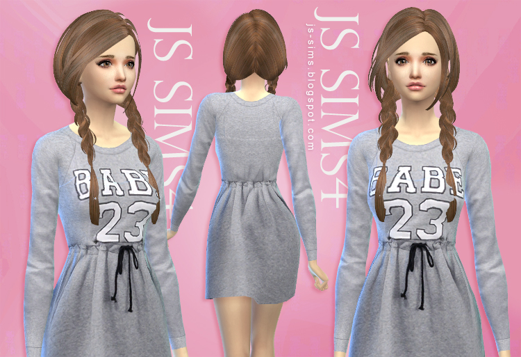 Casual Drawstring Dress by JS