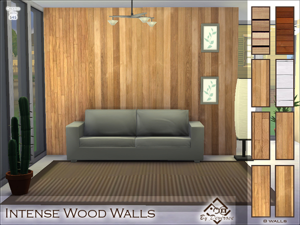 Intense Wood Walls Set by Devirose