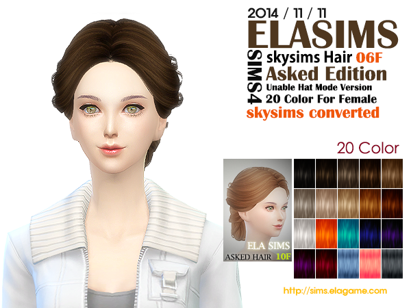 Skysims Hair Conversion 06F by Elasims
