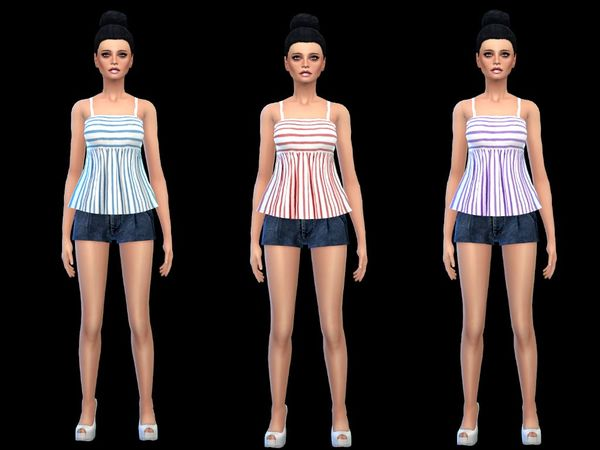 set carnisole top stripes new mesh by simsoertchen