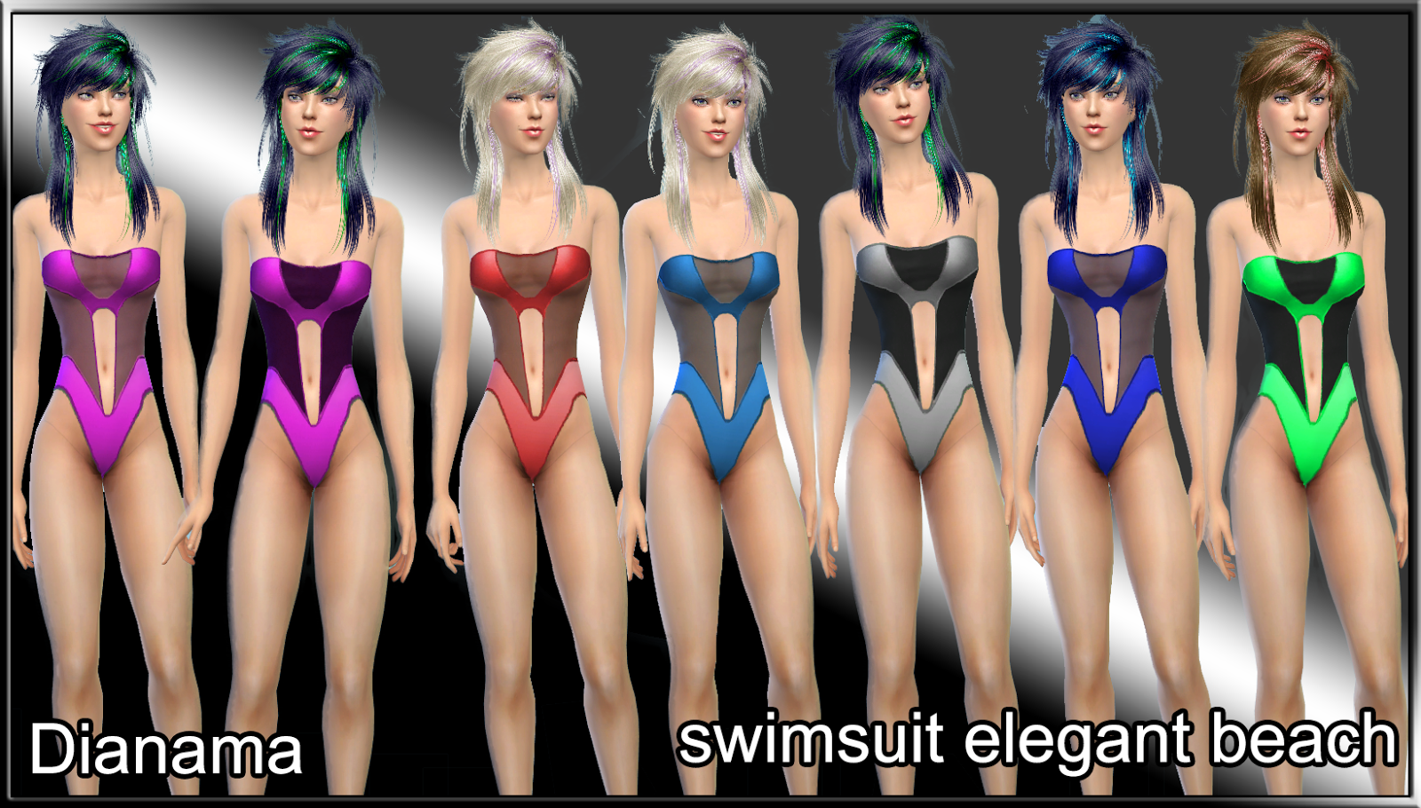 Dianama - swimsuit elegant beach