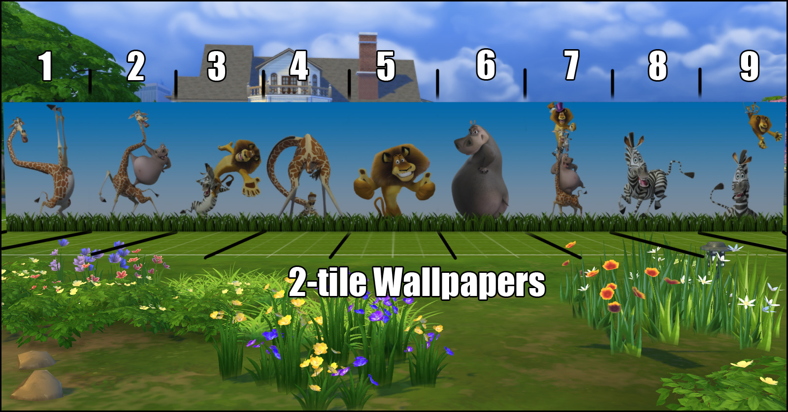 Madagascar Multiple tile Wallpapers Combine Set by Bakie