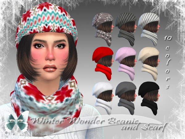 Winter Wonder Beanie and Scarf by Ms Blue