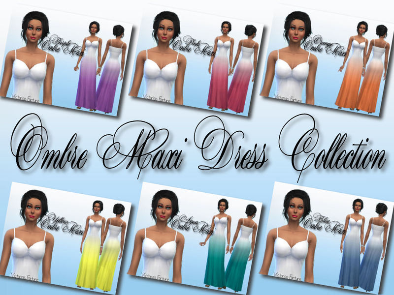 Victorias Fortune Ombre Maxi Dress Collection by fortunecookie1