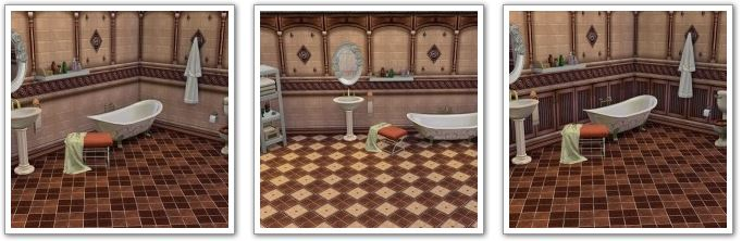 Country bathroom tiles by HelleN