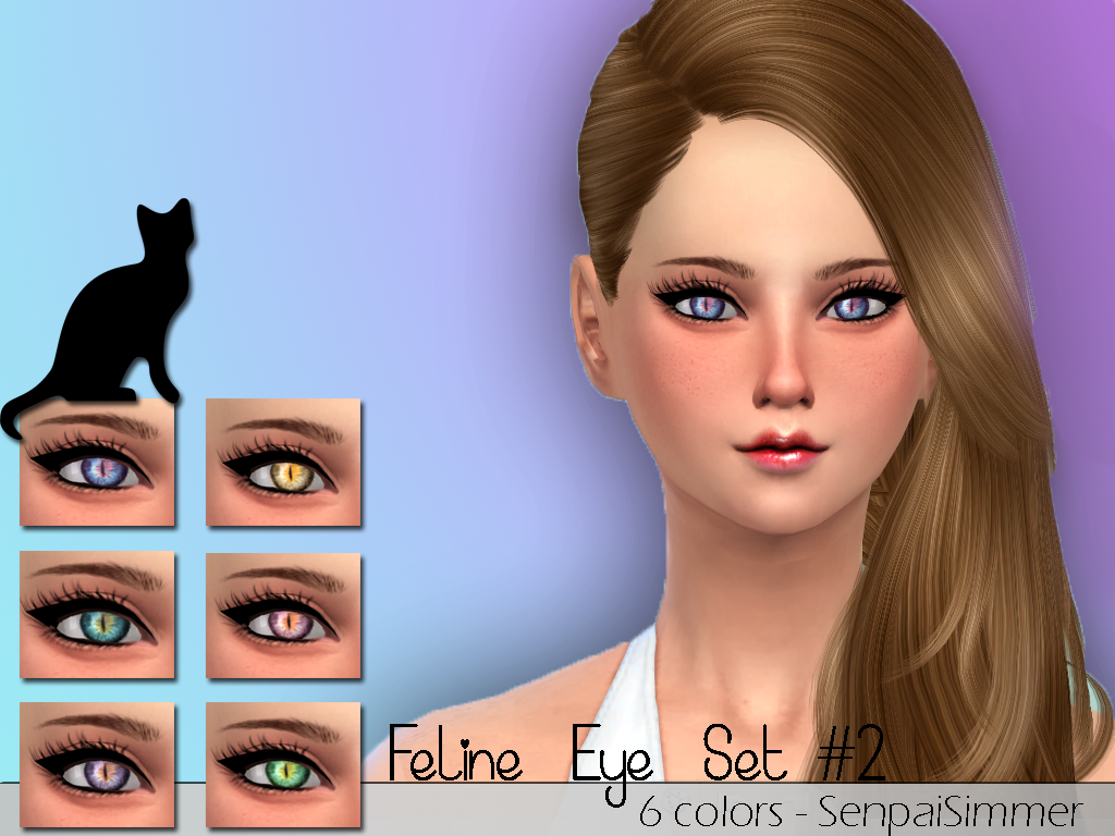 FELINE EYE SET #2 by SenpaiSimmer