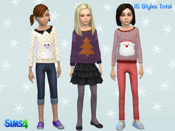 Girls Winter Sweater by Kronronko