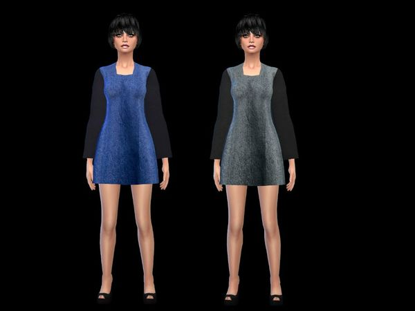denim body dress, mesh by sims2fan by simsoertchen