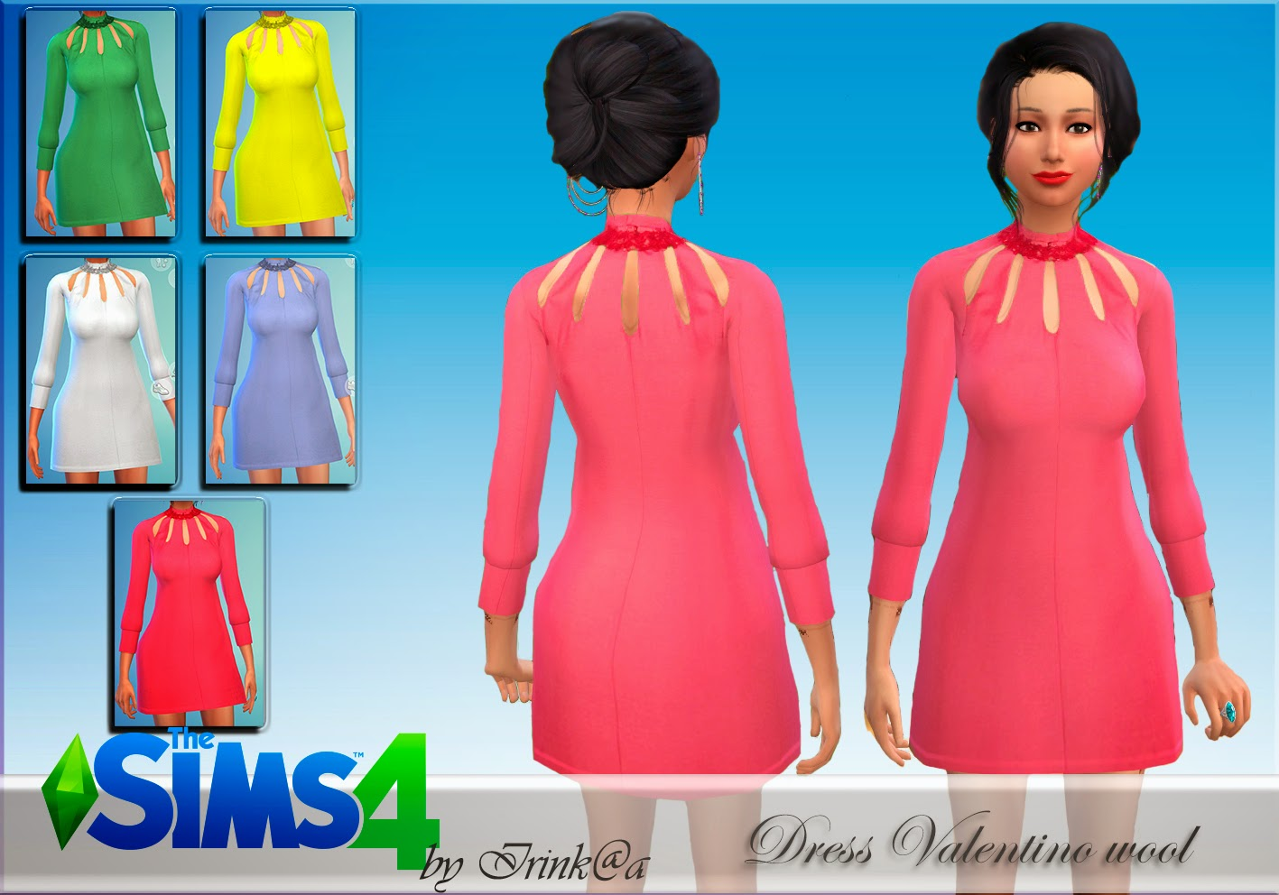 Dress Valentino wool by Irink@a
