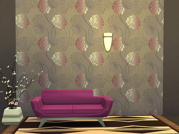 Silken Flowers Wallpaper by Rirann