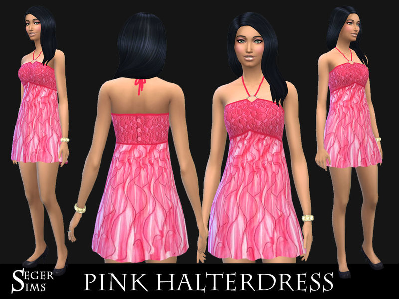 Pink HalterDress by SegerSims