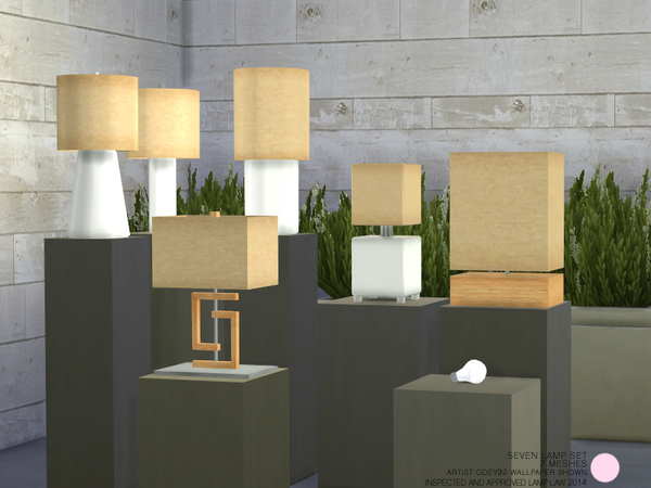 Seven Lamp Set by DOT