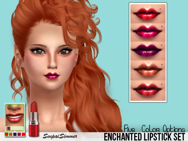 Enchanted Lipstick by SenpaiSimmer