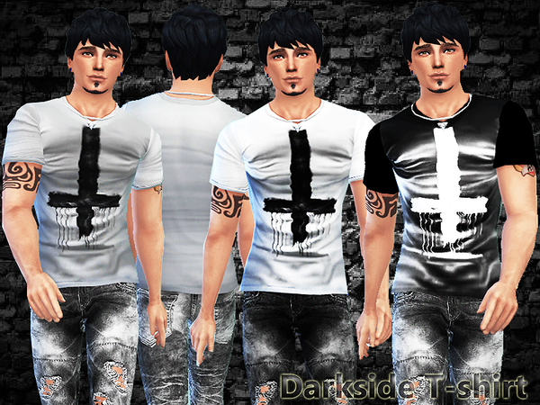 Darkside T-shirt by Pinkzombiecupcakes