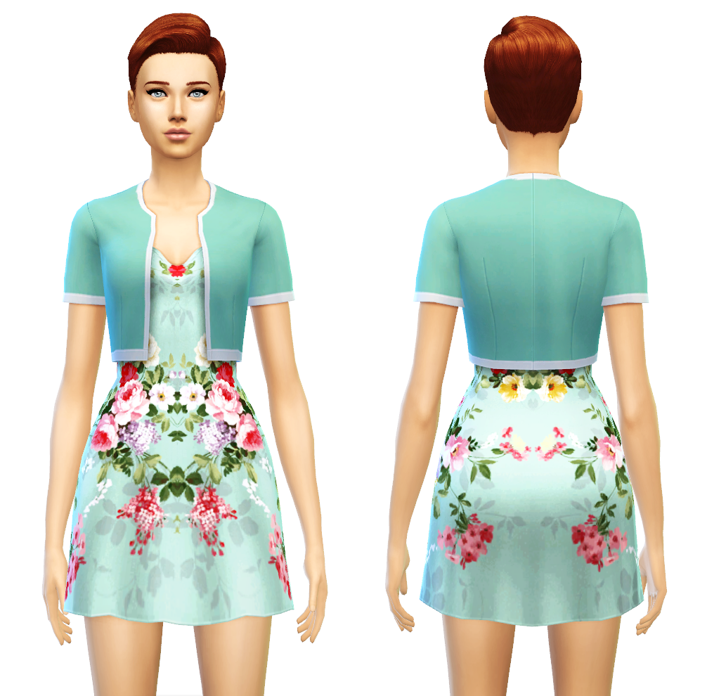 Jacket Dress at Sim4ny