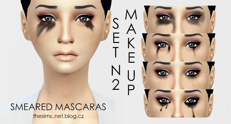 Smeared mascara N2 at Cloe Sims