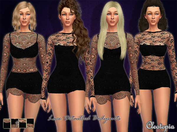 Set9- Lace Detailled Bodysuit by Cleotopia