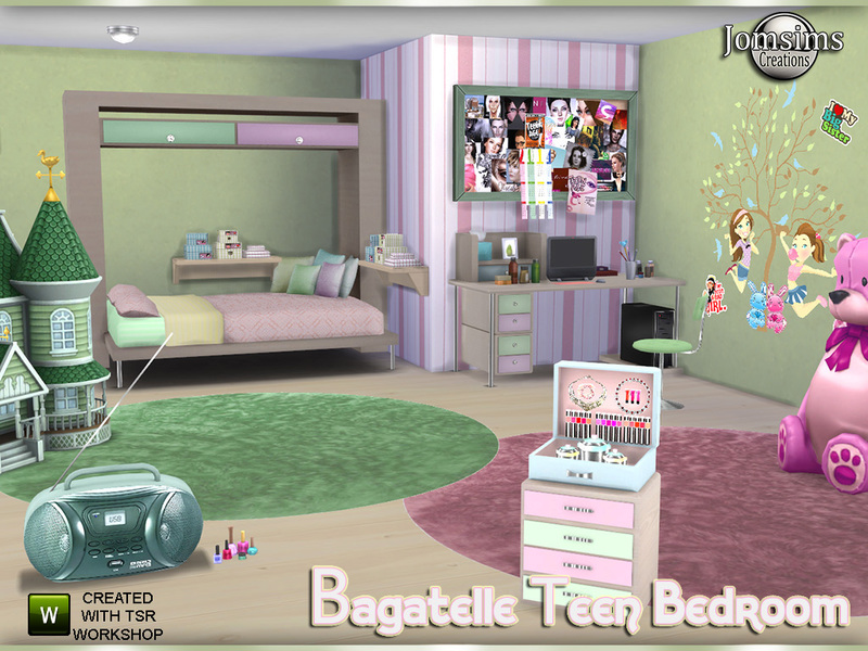 bagatelle teen bedroom by jomsims